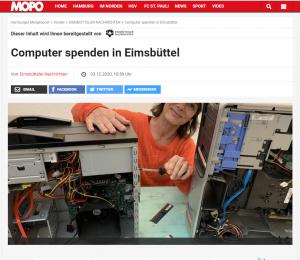 EimsV Computerspende MOPO Artikel vom 05-12-20